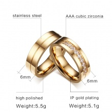 Couple Rings - Gold Color