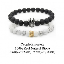 King and Queen Crown Couple Bracelets