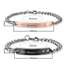 Her King and His Queen Couple Bracelet