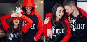 King and queen couple hoodies