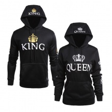 Black King and Queen Couple Hoodie