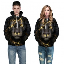 Lion Head Lightning Couple Hoodie