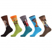 (5 Pair) Men's Funny Happy Couple Socks