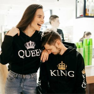 King and queen hoodies couple